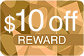 10 Dollars Off Reward Icon