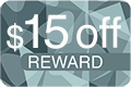 15 Dollars Off Reward Icon