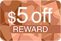 5 Dollars Off Reward Icon