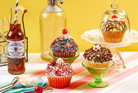 JUMBO Ice Cream Sundae Cupcakes - 4-Pack
