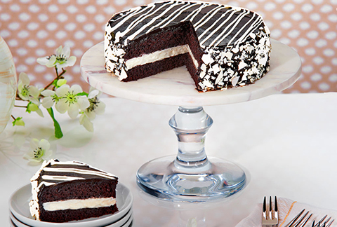 Black and White Mousse Cake