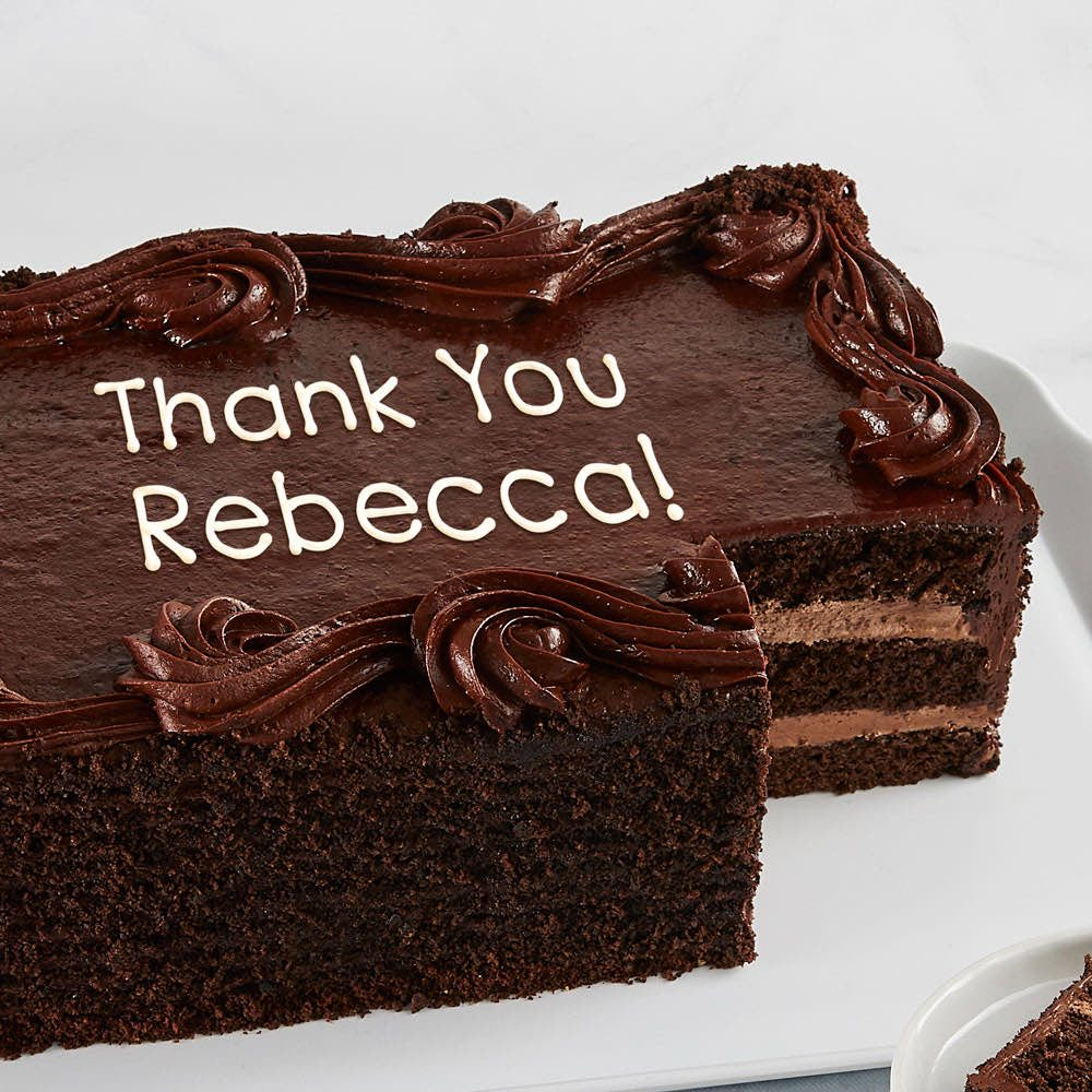 Personalized Chocolate Sheet Cake