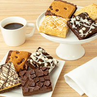 Zoomed in Image of Assorted JUMBO Brownie Sampler