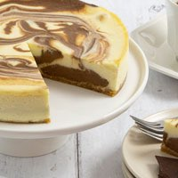 Zoomed in Image of Marble Swirl Cheesecake