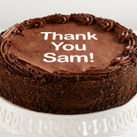 Personalized 10-inch Chocolate Cake