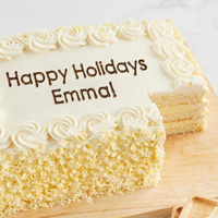 Zoomed in Image of Personalized Vanilla Sheet Cake
