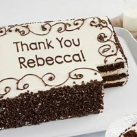Zoomed in Image of Personalized Chocolate Chip Sheet Cake