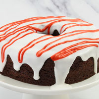 Zoomed in Image of Chocolate Peppermint Cake