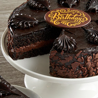 Zoomed in Image of Chocolate Mousse Torte Cake
