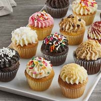 Zoomed in Image of Mini Assorted Gourmet Cupcakes