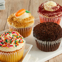 Zoomed in Image of JUMBO Gourmet Assorted Cupcakes