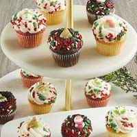 Zoomed in Image of Mini Holiday Cupcakes