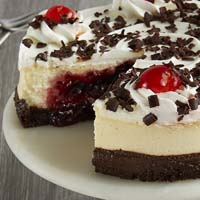 Zoomed in Image of Black Forest Cheesecake