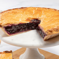 Zoomed in Image of Bountiful Blueberry Pie