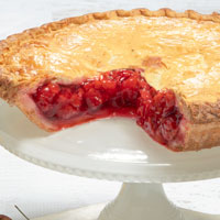Zoomed in Image of Sour Cherry Pie