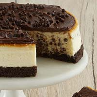 Zoomed in Image of Chocolate Chip Cheesecake