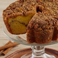 Zoomed in Image of Viennese Coffee Cake - Cinnamon and Walnuts