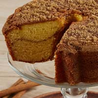 Zoomed in Image of Viennese Coffee Cake - Cinnamon