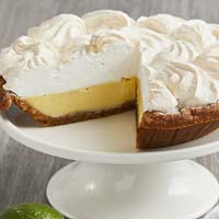 Zoomed in Image of Key Lime Pie