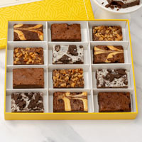 Zoomed in Image of Gourmet Brownie Sampler