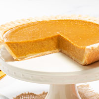 Zoomed in Image of Classic Pumpkin Pie