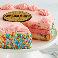 Zoomed in Image of Strawberry Funfetti Cake