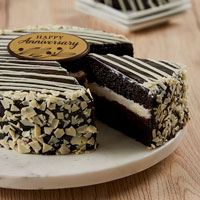 Zoomed in Image of Black and White Mousse Cake