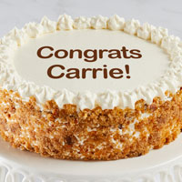 Zoomed in Image of Personalized Carrot Cake