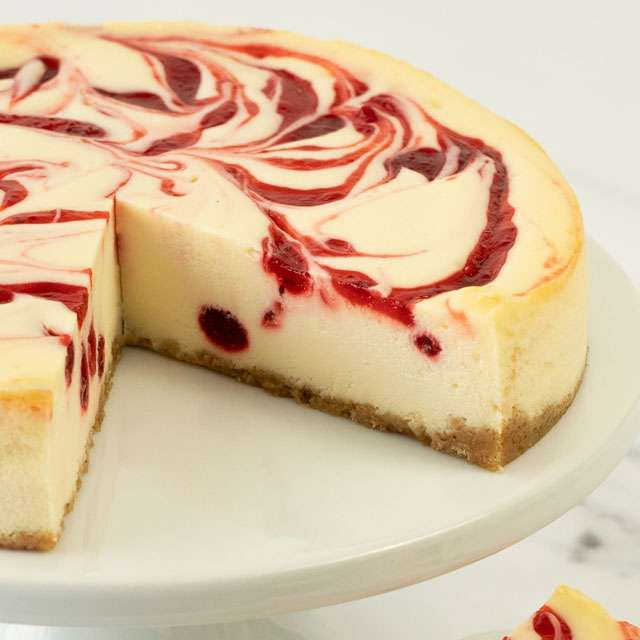 image of Strawberry Swirl Cheesecake