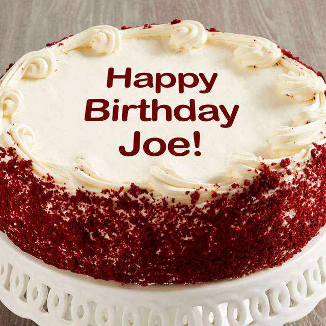 Image of Personalized 10-inch Red Velvet Cake