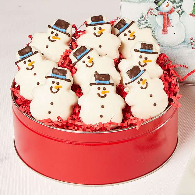 image of Snowman Cookie Tin