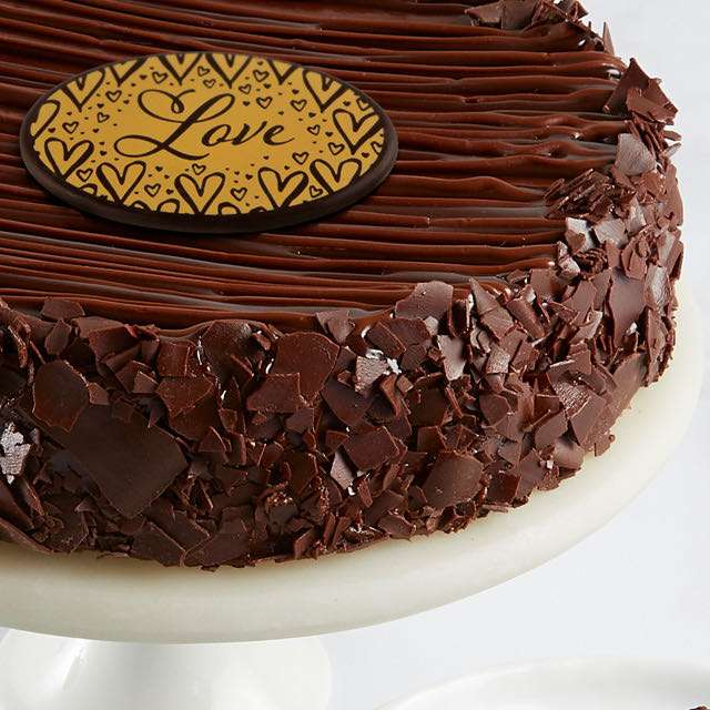 image of Triple Chocolate Enrobed Brownie Cake