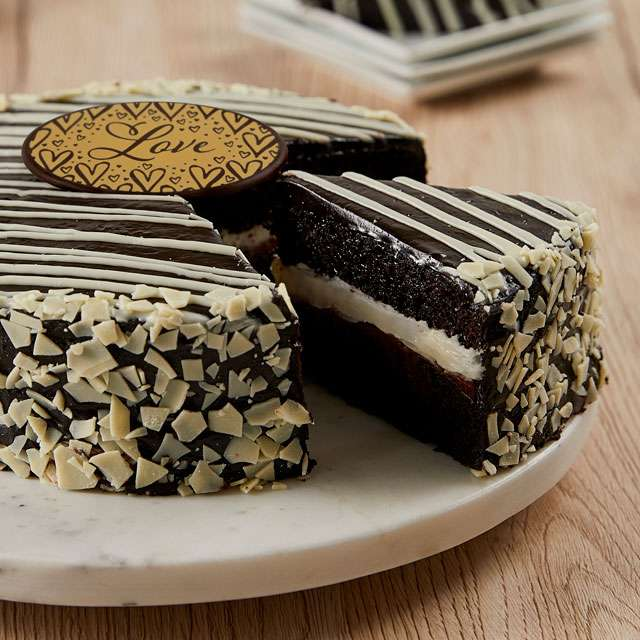 image of Black and White Mousse Cake