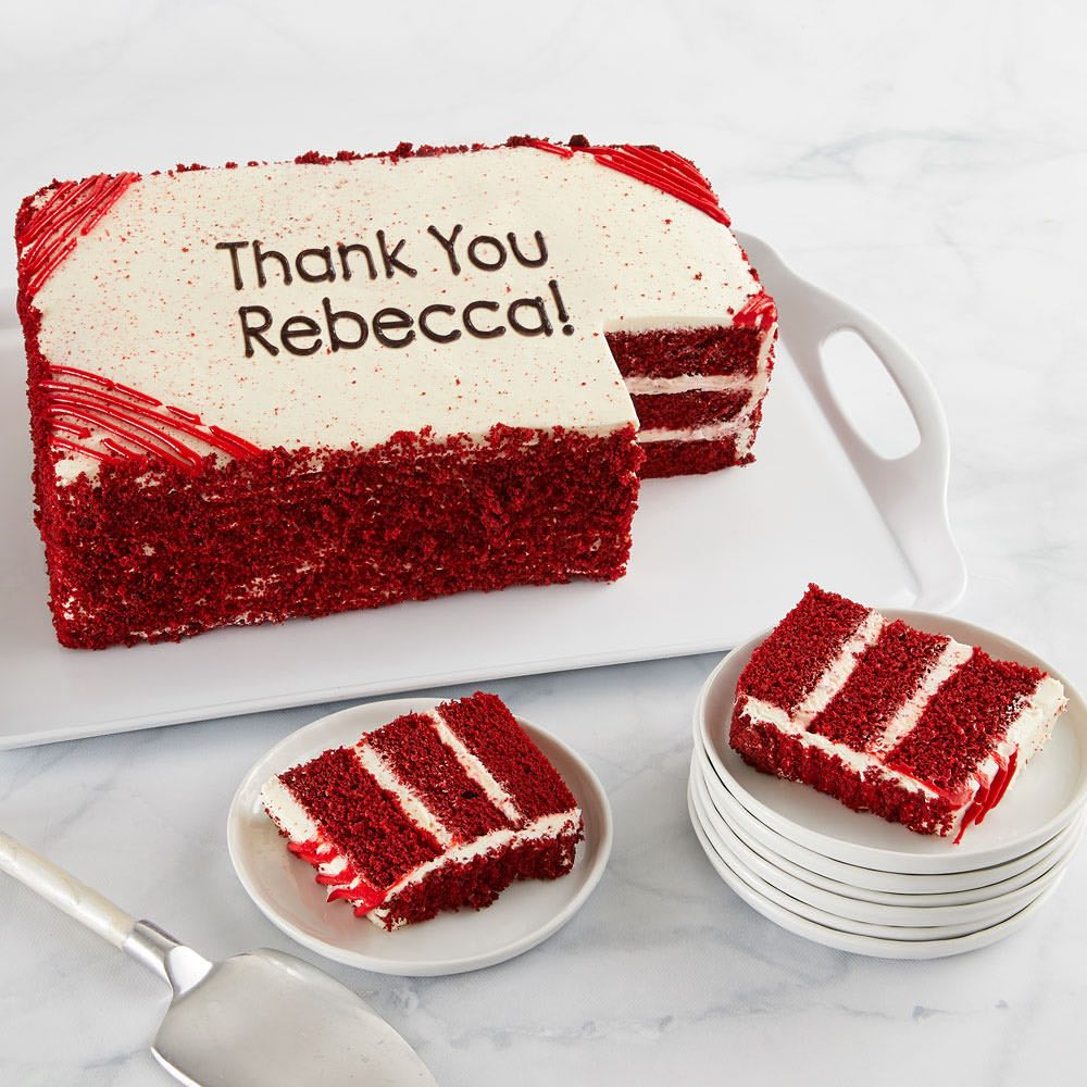 Personalized Red Velvet Sheet Cake
