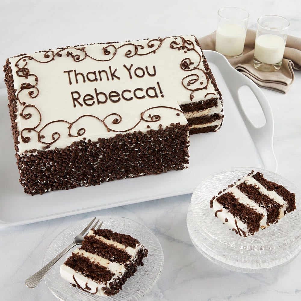 Personalized Chocolate Chip Sheet Cake
