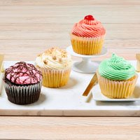 Wide View Image JUMBO Fruity Cupcakes