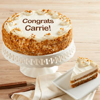 Wide View Image Personalized 10-inch Carrot Cake