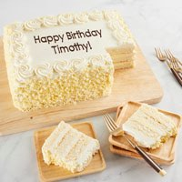 Wide View Image Personalized Vanilla Sheet Cake