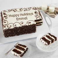 Wide View Image Personalized Chocolate Chip Sheet Cake