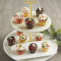 Wide View Image Mini Holiday Cupcakes