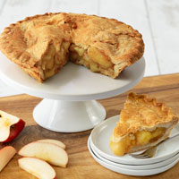 Wide View Image Country Apple Pie