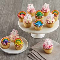 Wide View Image Mini Rainbows and Unicorns Cupcakes