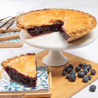 Wide View Image Bountiful Blueberry Pie
