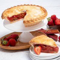 Wide View Image Strawberry Pie