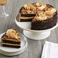 Wide View Image Salted Caramel Chocolate Cake