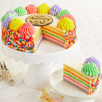 Wide View Image Rainbow Cake