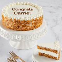 Wide View Image Personalized Carrot Cake
