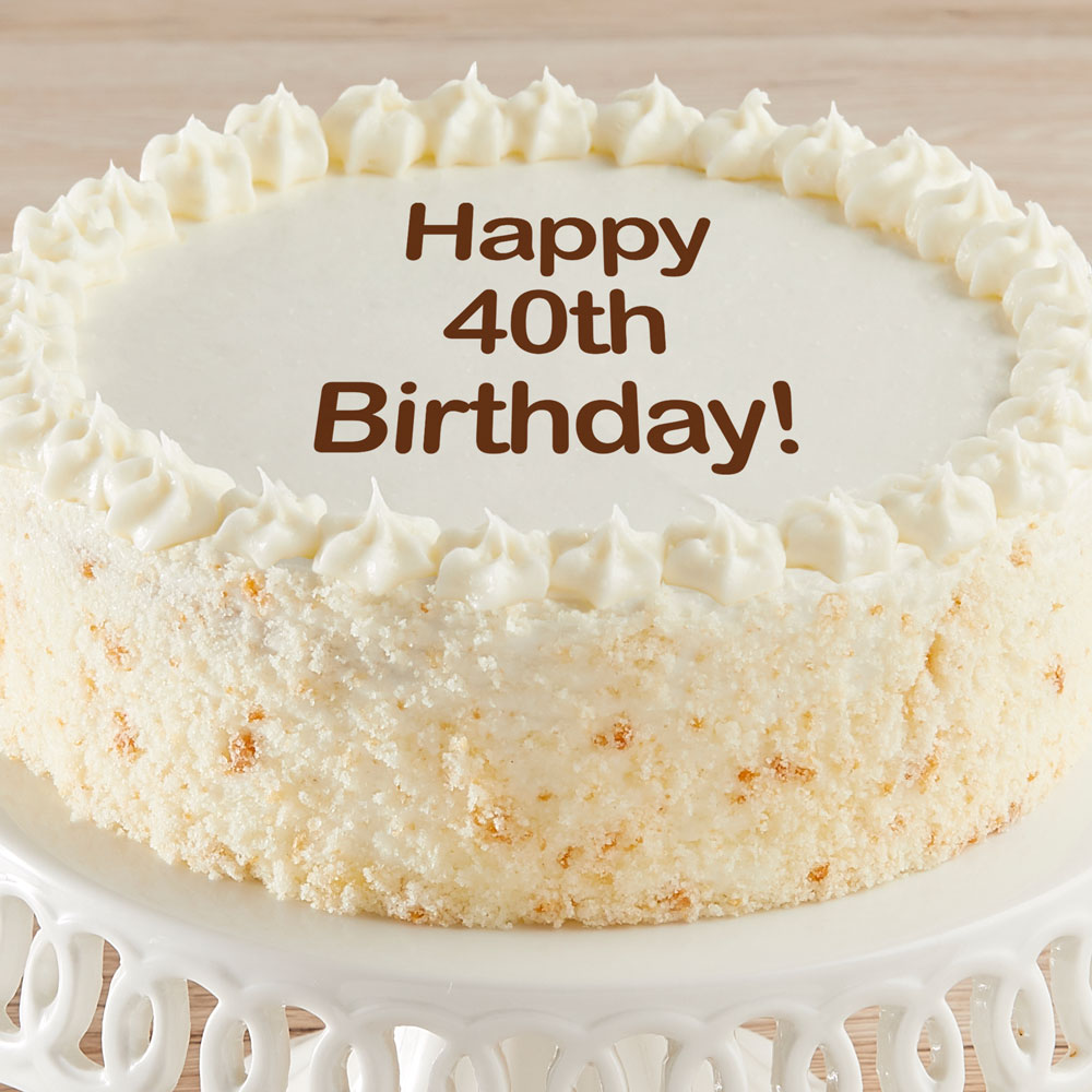 Happy 40th Birthday Vanilla Cake
