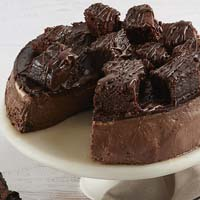 Zoomed in Image of Brownie Cheesecake