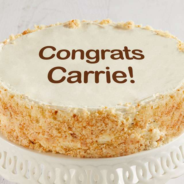image of Personalized 10-inch Vanilla Cake